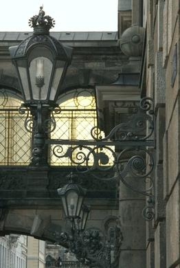 Lampe am Dresdner Schloss